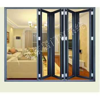 广亚铝材 GRKZD80系列合页隐藏式重型折叠门(爆款)